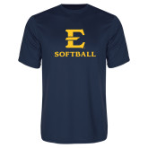 Performance Navy Tee-E Softball