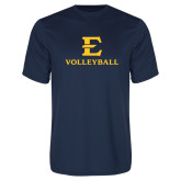 Performance Navy Tee-E Volleyball