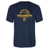 Performance Navy Tee-Volleyball on Top