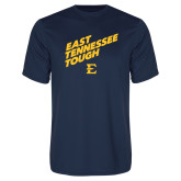 Performance Navy Tee-East Tennessee Tough Slant