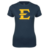 Ladies Syntrel Performance Navy Tee-E - Offical Logo