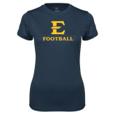Ladies Syntrel Performance Navy Tee-E Football