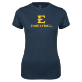 Ladies Syntrel Performance Navy Tee-E Basketball