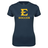 Ladies Syntrel Performance Navy Tee-E Soccer