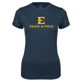 Ladies Syntrel Performance Navy Tee-E Track and Field