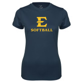 Ladies Syntrel Performance Navy Tee-E Softball