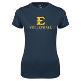 Ladies Syntrel Performance Navy Tee-E Volleyball