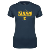 Ladies Syntrel Performance Navy Tee-Tennis Arrow
