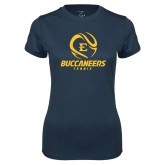 Ladies Syntrel Performance Navy Tee-Tennis Ball