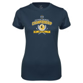 Ladies Syntrel Performance Navy Tee-2017 Southern Conference Championship - Mens Golf