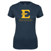 Ladies Syntrel Performance Navy Tee-Grandma