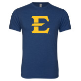 Next Level Vintage Navy Tri Blend Crew-E - Offical Logo