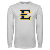 White Long Sleeve T Shirt-E - Offical Logo