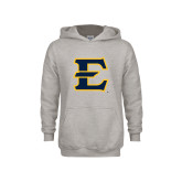 Youth Grey Fleece Hood-E - Offical Logo