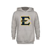 Youth Grey Fleece Hood-E - Offical Logo