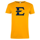 Ladies Gold T Shirt-E - Offical Logo