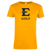 Ladies Gold T Shirt-E Golf