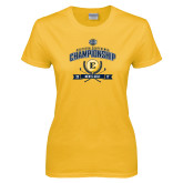 Ladies Gold T Shirt-2017 Southern Conference Championship - Mens Golf