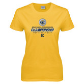 Ladies Gold T Shirt-Southern Conference Championship - Mens Golf 2017