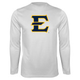 Performance White Longsleeve Shirt-E - Offical Logo