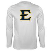Syntrel Performance White Longsleeve Shirt-E - Offical Logo