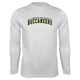 Performance White Longsleeve Shirt-Arched East Tennessee University Buccaneers