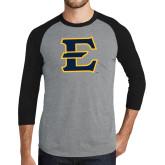 Grey/Black Tri Blend Baseball Raglan-E - Offical Logo