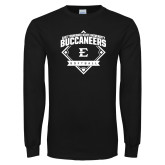 Black Long Sleeve TShirt-Softball Field