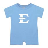 Light Blue Infant Romper-E - Offical Logo