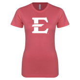 Next Level Ladies SoftStyle Junior Fitted Pink Tee-E - Offical Logo