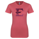Next Level Ladies SoftStyle Junior Fitted Pink Tee-E - Offical Logo Foil