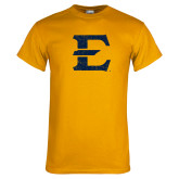 Gold T Shirt-E - Offical Logo Distressed