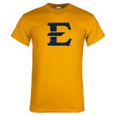 Gold T Shirt-E - Offical Logo Distressed