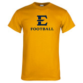 Gold T Shirt-E Football
