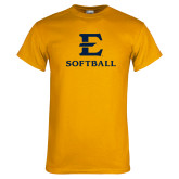 Gold T Shirt-E Softball