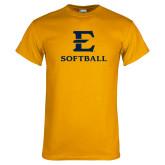 Gold T Shirt-E Softball