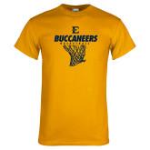 Gold T Shirt-Basketball Net Design