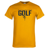 Gold T Shirt-Golf Tee Design
