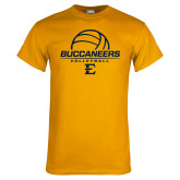 Gold T Shirt-Volleyball on Top
