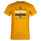 Gold T Shirt-2017 Southern Conference Tournament Mens Basketball Champions Stacked