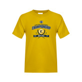 Youth Gold T Shirt-2017 Southern Conference Championship - Mens Golf
