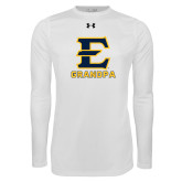Under Armour White Long Sleeve Tech Tee-Grandpa