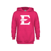 Youth Raspberry Fleece Hoodie-E - Offical Logo