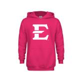 Youth Raspberry Fleece Hood-E - Offical Logo