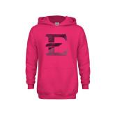 Youth Raspberry Fleece Hood-E - Offical Logo Foil