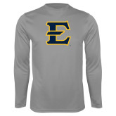 Performance Steel Longsleeve Shirt-E - Offical Logo