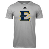 Adidas Climalite Sport Grey Ultimate Performance Tee-E - Offical Logo