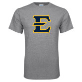 Grey T Shirt-E - Offical Logo