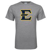 Grey T Shirt-E - Offical Logo