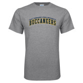 Grey T Shirt-Arched East Tennessee University Buccaneers